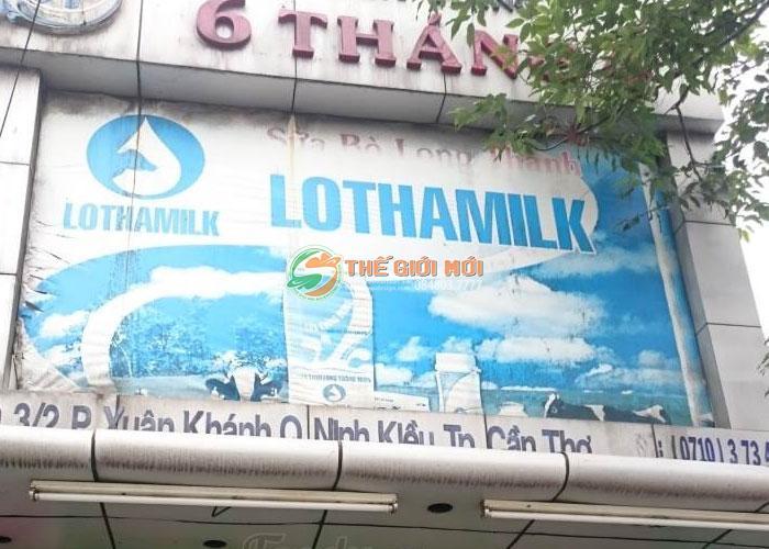 Biển hiệu quảng cáo cho hệ thống sữa Lothamilk